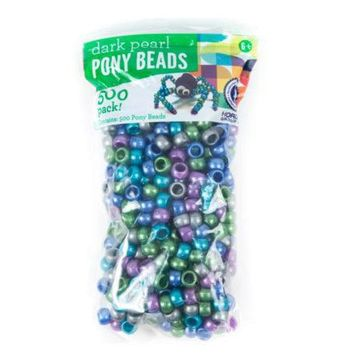 Dark Pearl Pony Beads ( Case of 24 )