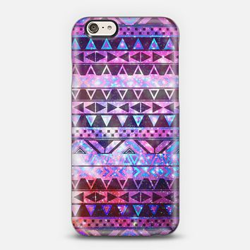 Girly Andes Aztec Pattern Pink Teal Nebula Galaxy iPhone 6 case by Girly Trend | Casetify