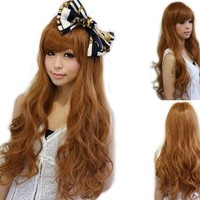 "Cool2day® Fashion Girls's 25"" Long Curly Light Brown Hair Cosplay Party Wig JF010578"