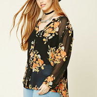 Plus Size Floral Shirt