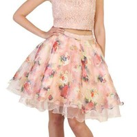 Short Prom Dress Homecoming Two Piece Set Cocktail Party