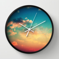 My Head is stuck in the Clouds Wall Clock by Caleb Troy
