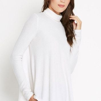 Cozy Time Ribbed Knit Turtleneck Sweater