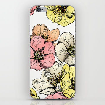 Colorful Poppies iPhone & iPod Skin by MIKART