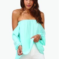 Perfection Off The Shoulder Top - Mint
