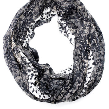 The Widow's Lace Infinity Scarf