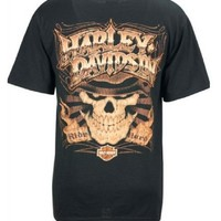 Harley-Davidson® Men's Screamin' Eagle T-Shirt. All Cotton. Extra Large Skull Graphic on Back. HARLMT0147