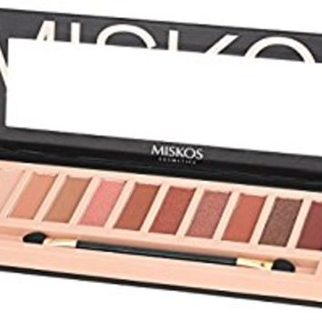 2pcs Nude Eyeshadow Palette 12 Color Naked Matte Shimmer Glitter Pigment Waterproof Natural Eye Shadow Pallete Professional Cosmetic Makeup Kit (C+D)