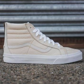 DCCKBE6 VANS MEN'S SK8-HI PREMIUM LEATHER - WHITE