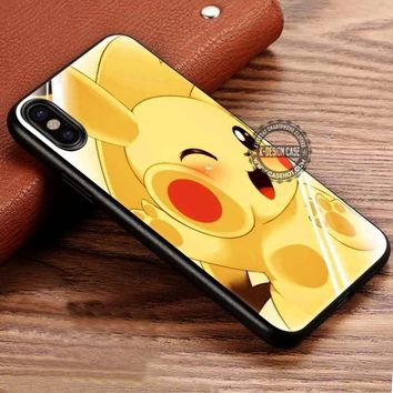 Cuteness Overload Pikachu Pokemon iPhone X 8 7 Plus 6s Cases Samsung Galaxy S8 Plus S7 edge NOTE 8 Covers #iphoneX #SamsungS8