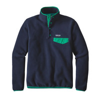 Patagonia Women's Lightweight Snap-T Fleece Pullover Navy Blue