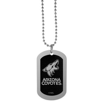 Arizona Coyotes® Chrome Tag Necklace HTNB45