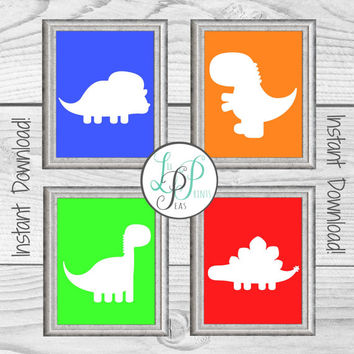 Dinosaur Wall Decor, Dinosaur Nursery Wall Art, Dinosaur Boy's Room Print, Dinosaur Prints, Boy's Room Decor, Baby Boy Gift, Dinosaur Art