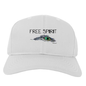 Graphic Feather Design - Free Spirit Adult Baseball Cap Hat by TooLoud
