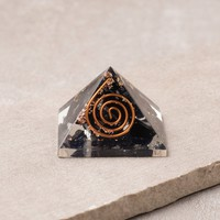 Black Tourmaline Orgone Mini Pyramid