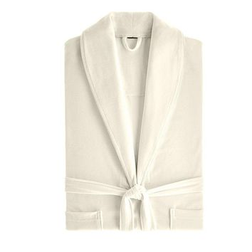 Lightweight Velour-Cotton Robe