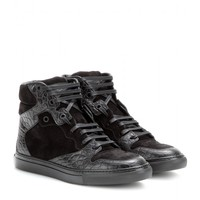 balenciaga - leather and suede high-top sneakers
