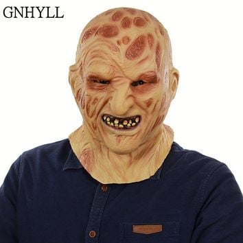 GNHYLL New Halloween Adult Mask Zombie Mask Latex Bloody Scary Extremely Disgusting Full Face Mask Costume Party Cosplay
