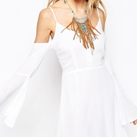 Missguided Off The Shoulder Boho Skater Dress