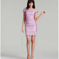 LM Collection 2013 Fall Dresses - Pale Orchid Ruched Embellished Short Dress