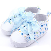 Baby Shoes Girls Cotton Floral Infant Soft Sole Baby First Walker Toddler Shoes 0-12 Months NW