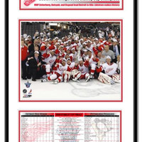 Detroit Red Wings - 2008 Stanley Cup Champions Frame - Team Celebration