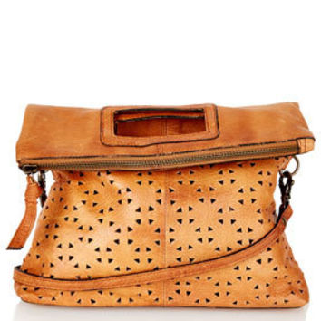 Geo Perforated Crossbody Bag - Bags & Wallets  - Bags & Accessories