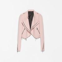 CROPPED JACKET WITH ZIPS