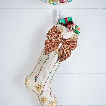 Retro Stripe Christmas Stocking - Kim Seybert