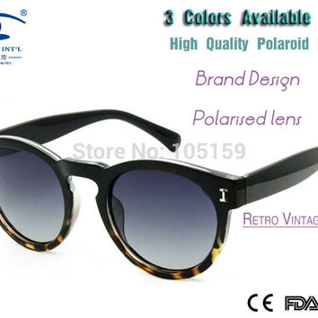 New 2015 Outdoor Round Sunglasses Female High Quality Polaroid Lens Retro Vintage  Polarized  Sunglasses for Women