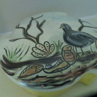 Vintage Painted Trinket Box Home Decor 9 in size