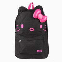 Hello Kitty 3D Backpack: Black