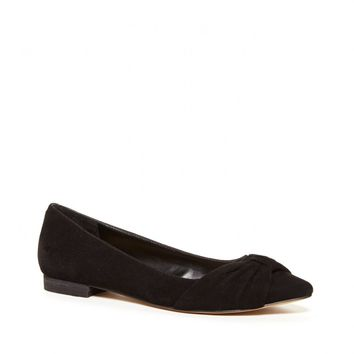 Sole Society Aamira Ruched Suede Flat