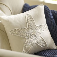 Jewel Starfish Pillow