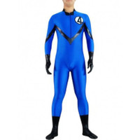 Catsuits & Zentai Full Body Without Hood Blue And Black Lycra Spandex Catsuit [TSE110277] - $35.99