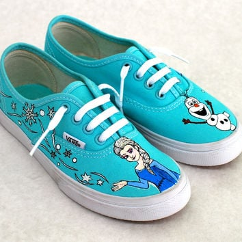 Elsa from Frozen Vans shoes - Custom