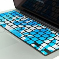 "Kuzy - ARMY AQUA BLUE Camouflage Keyboard Silicone Cover Skin for MacBook Pro 13"" 15"" 17"" (with or w/out Retina Display) iMac and MacBook Air 13"" - Aqua Camo"