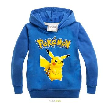 Boys hoodie T Shirt Bobo Choses Children Clothing Boy T-Shirts Long Sleeve pikachu Kids  sweatshirts for Boys Polo ShirtsKawaii Pokemon go  AT_89_9