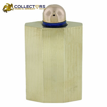 Vintage Antique Cartier Deco Solid 14k Yellow Gold Perfume Perfume Bottle