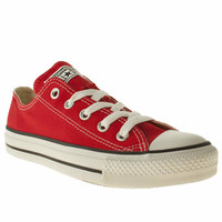 womens converse red all star oxford trainers