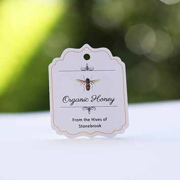 Honey Favor Tags, Vintage Honey Bee, Custom Labels for Homemade Honey, Wedding Favor