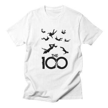 The 100 Tv Show Tshirt Women Cotton Streetwear Harajuku Fashion High Quality Summer Style Printed Casual White Tee Shirt Femme