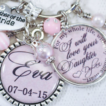 Personalized MOTHER of THE BRIDE Gift, Personalized Mother Of the Bride Key Chain, Mother of the Bride Gift, Mother Of the Bride Jewelry