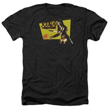 Xena - Cut Up Adult Heather Officially Licensed T-Shirt Short Sleeve Shirt