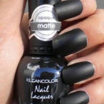 Kleancolor Matte Finish Nail Polish Matte Black