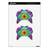 Psychedeli colors and Crystal Xbox 360 Controller Skin