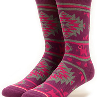 Stance Native Tribal Print Crew Socks