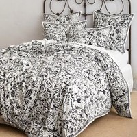 Serafina Duvet by Anthropologie Neutral King Bedding