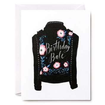 Birthday Babe Jacket Card