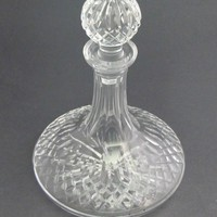 Signed Waterford glass Ships decanter